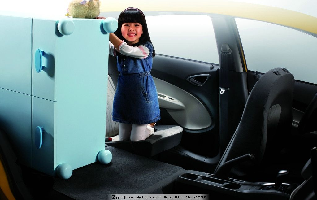 新赛欧 上海通用 雪佛兰 合资品牌 汽车 轿车 座椅 人物 小孩 女孩