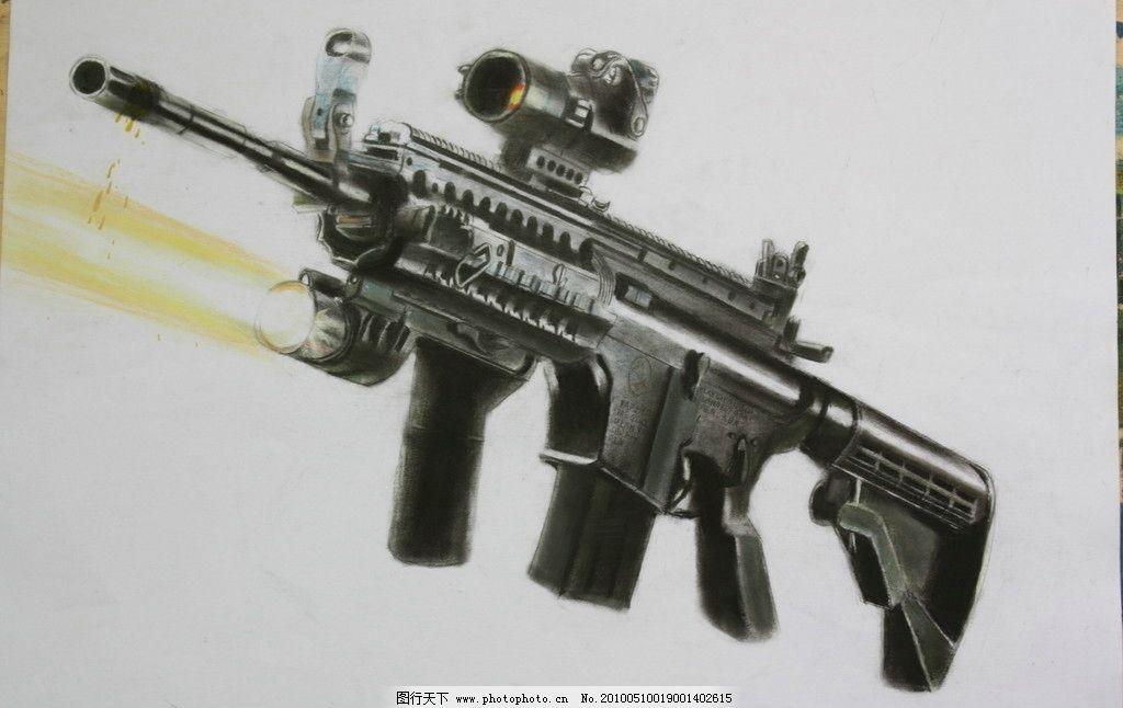 手绘枪图片