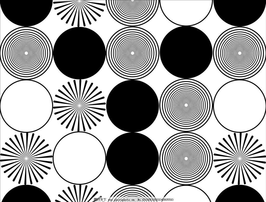 圆圈 黑白 简单 线条 抽象艺术 移门图案 位图移门 背景底纹 底纹边框