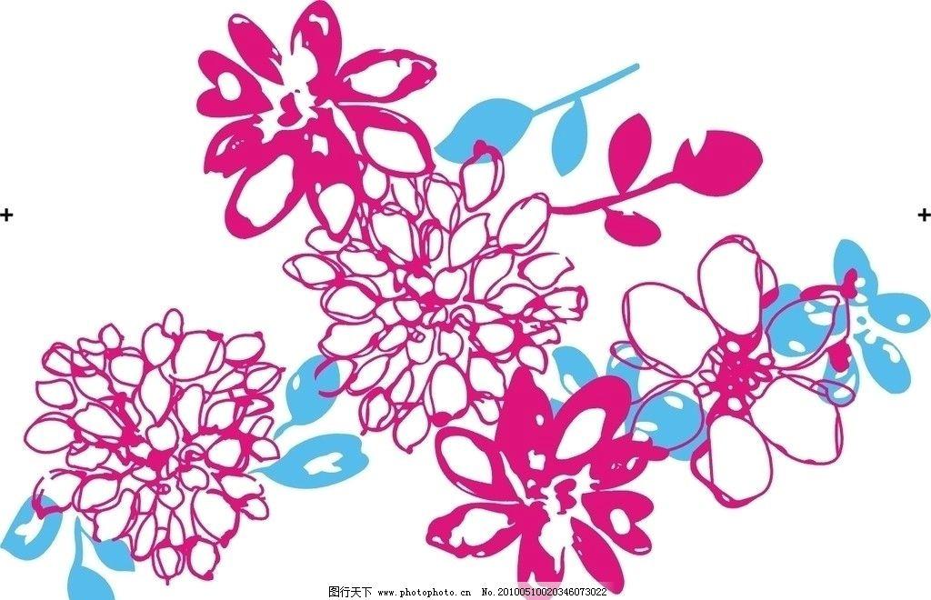 花儿 花 衣服 花边 花纹花边 底纹边框 矢量 cdr