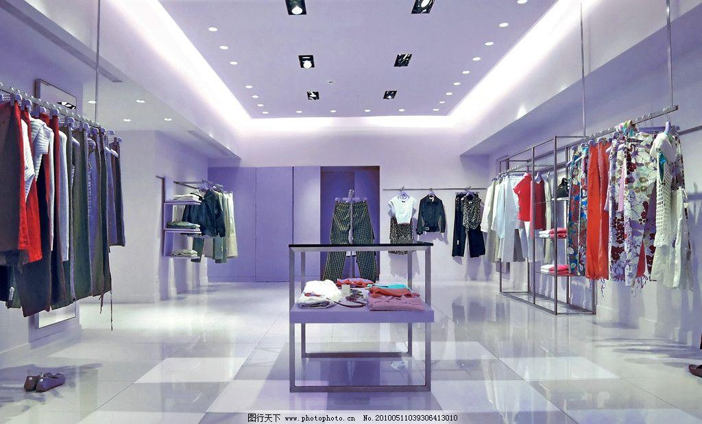 时装店 时装服装店铺 时尚 店面 销售 商场 大型商场 衣服 装修