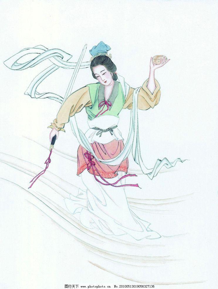 古代美女油画 古代美女 油画 武女 女人 人物 绘画书法 文化艺术 设计