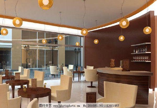 完美咖啡厅3d场景素材图片