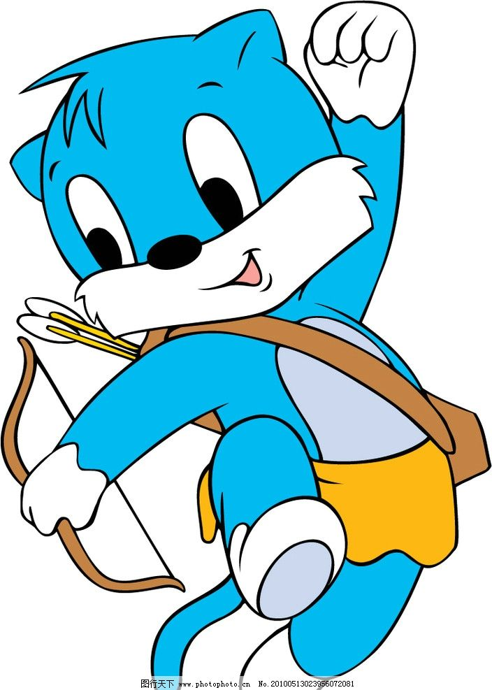 卡通 蓝猫图片