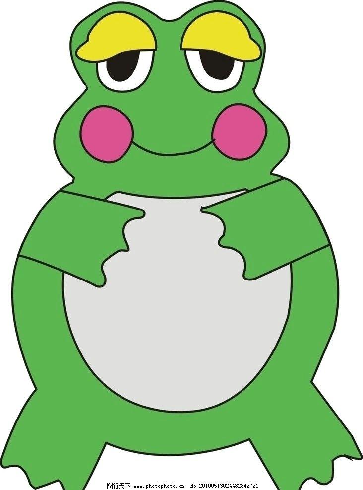 小青蛙 卡通 可爱 童趣 野生动物 生物世界 矢量 cdr图片