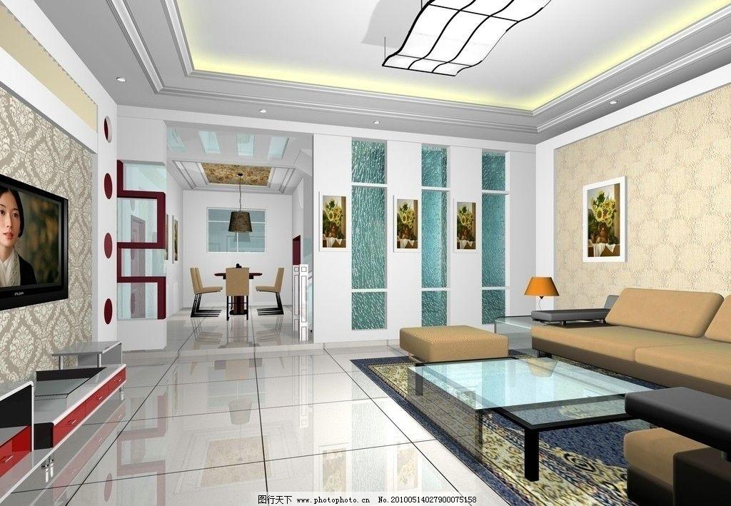 影视墙效果图 楼梯 壁纸 灯 室内设计 3d设计 设计 72dpi jpg