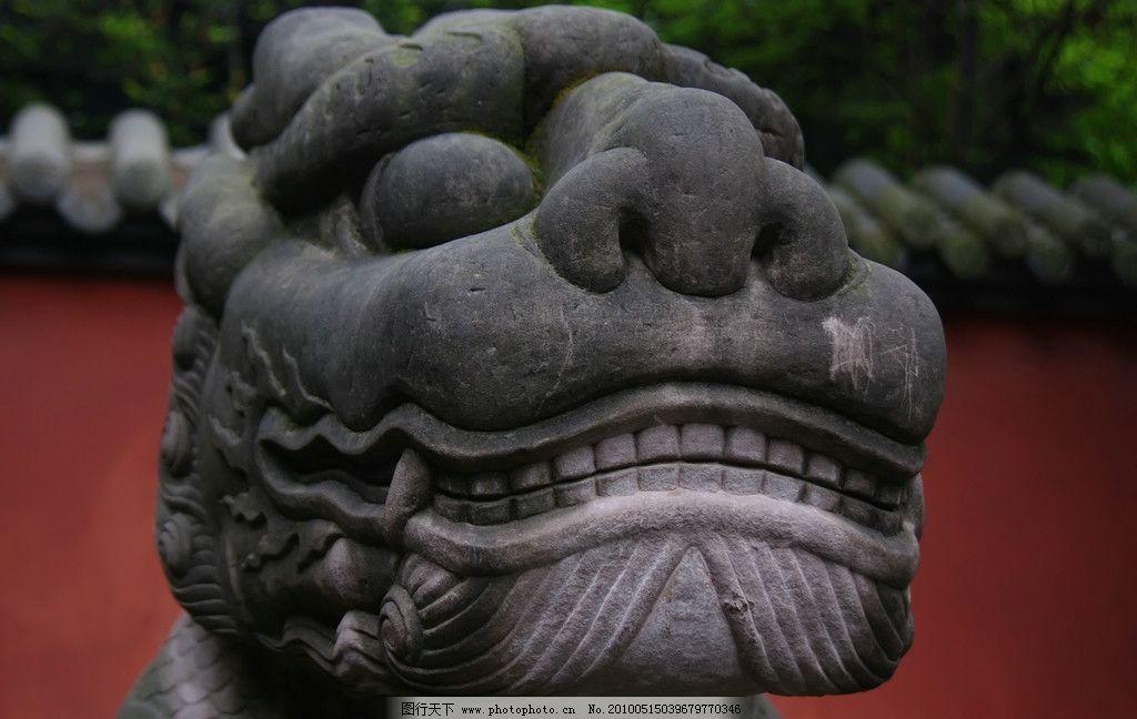 麒麟石雕头像图片