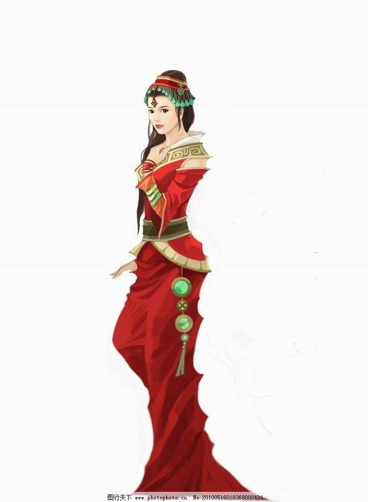 美女 红衣女 游戏 网游 古装 古代美女 动漫人物 动漫动画 设计 300