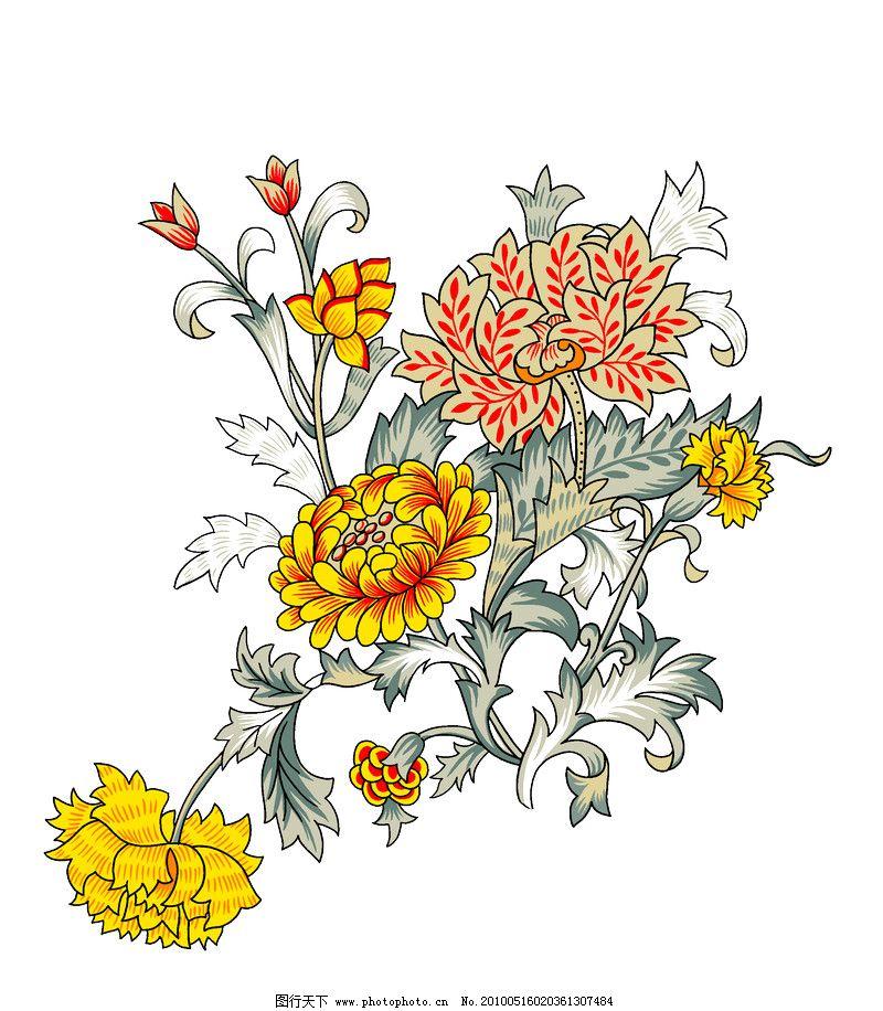 彩绘花纹0482