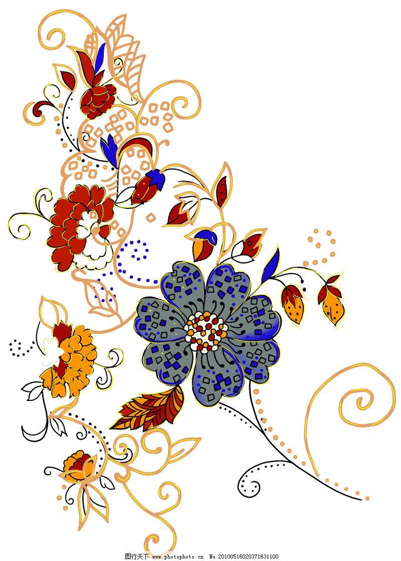 彩绘花纹0474