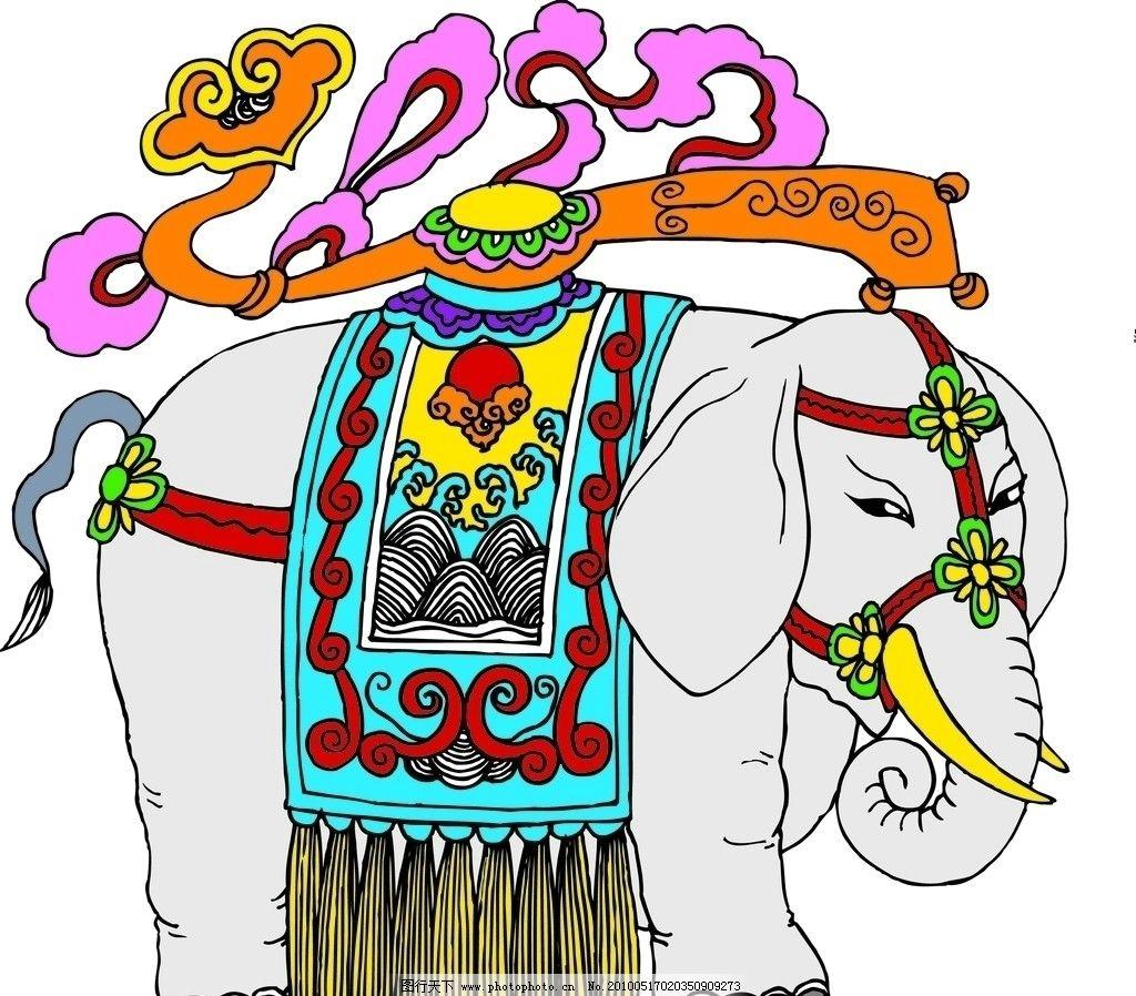 大象小报边框简笔画