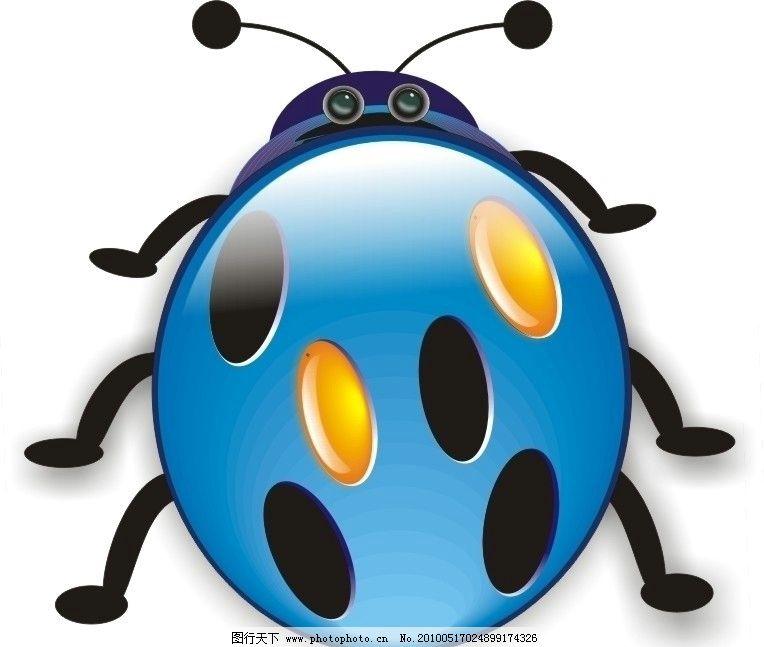 瓢虫 分层文件 动物 矢量昆虫 卡通 图标 小动物