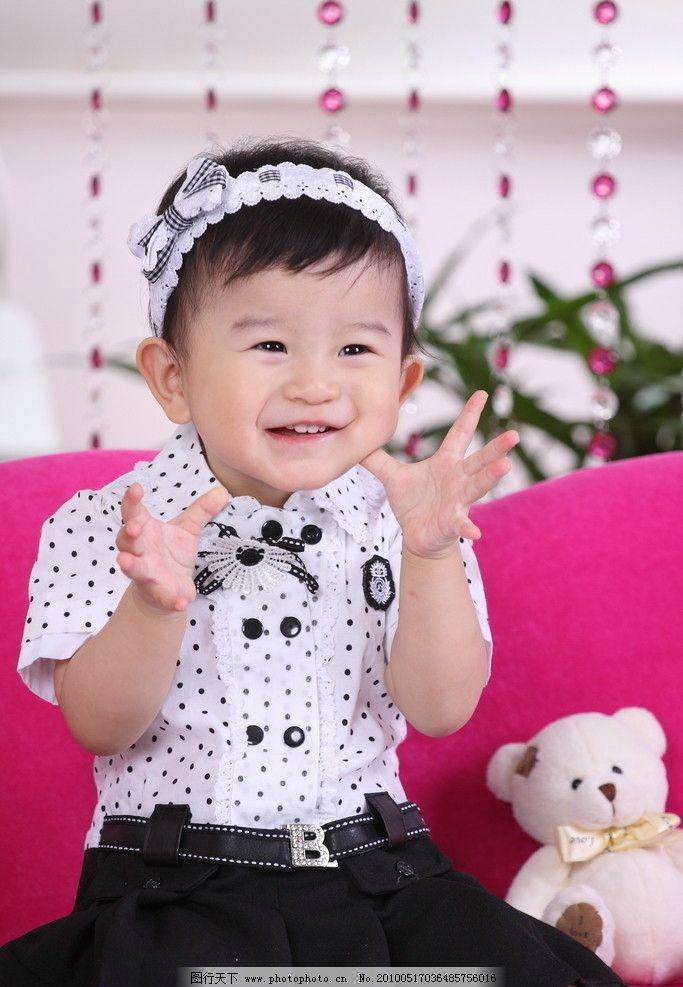 小宝宝ol装 小宝宝清晰大图 宝宝 婴儿 ol 小公主 礼服 发卡 大头照