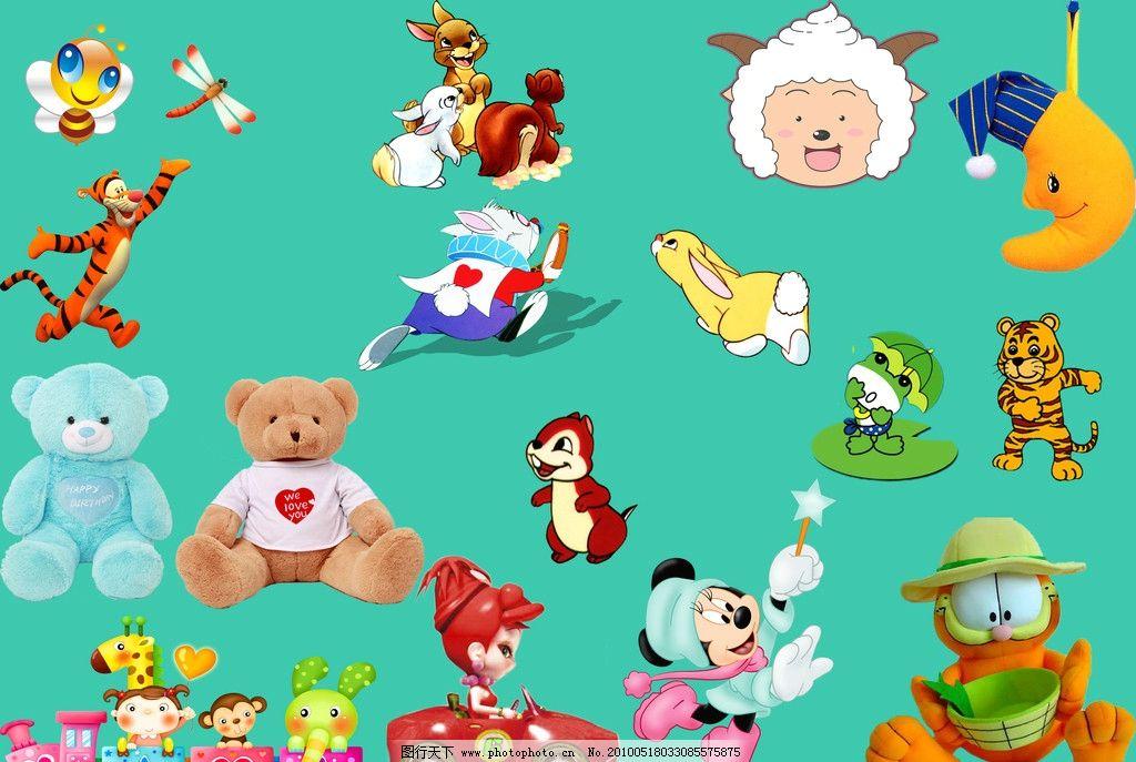 儿童相册卡通动物素材图片
