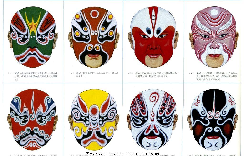 京剧脸谱图图片