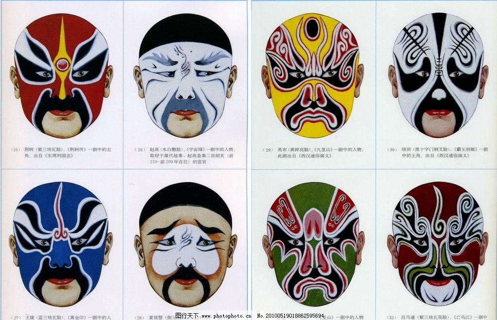 中国 古典 高清 大图 素材 艺术 设计 图库 传统文化 中国京剧脸谱 文图片