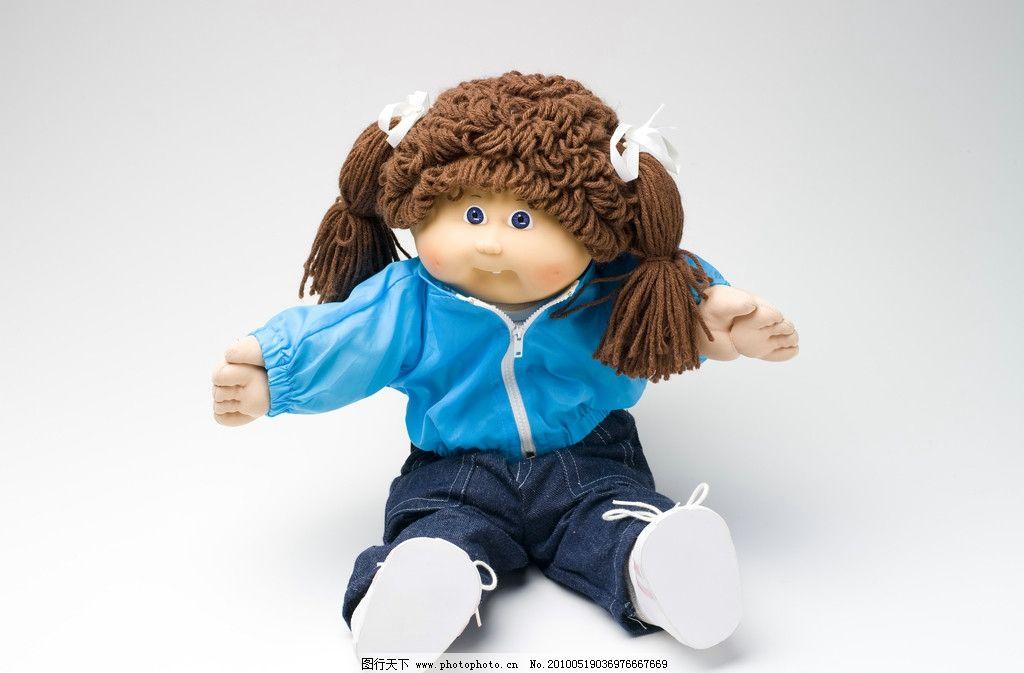 洋娃娃 布娃娃 可爱洋娃娃 蓝色衣服 俏皮可爱布娃娃 其他人物 人物