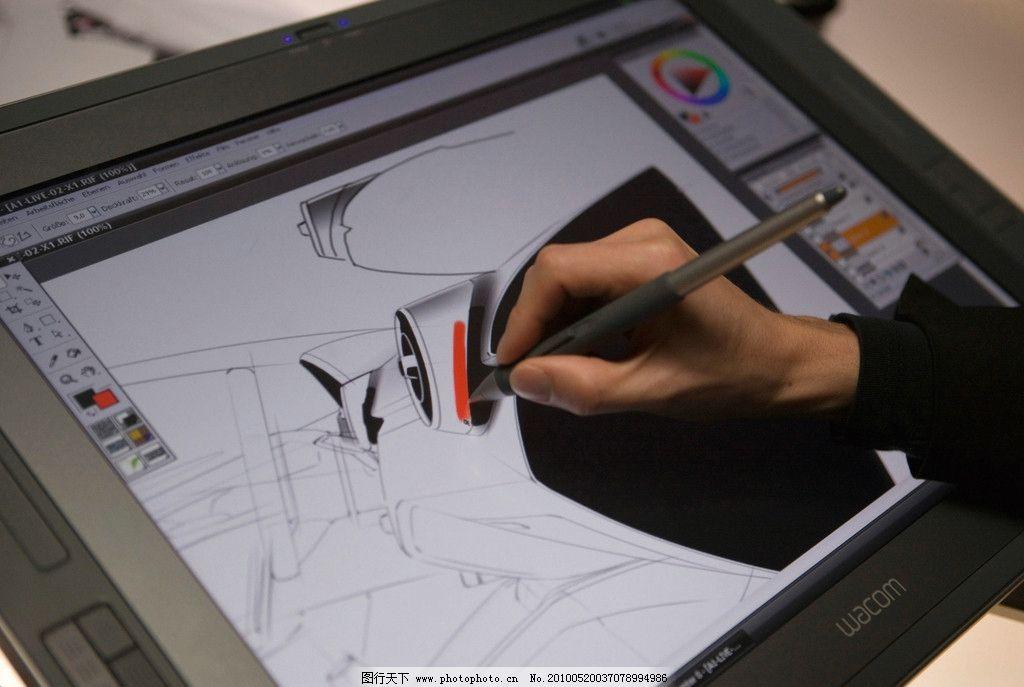 设计师 设计 电脑 绘图 汽车设计 工业设计 工具 手 工作 生活素材