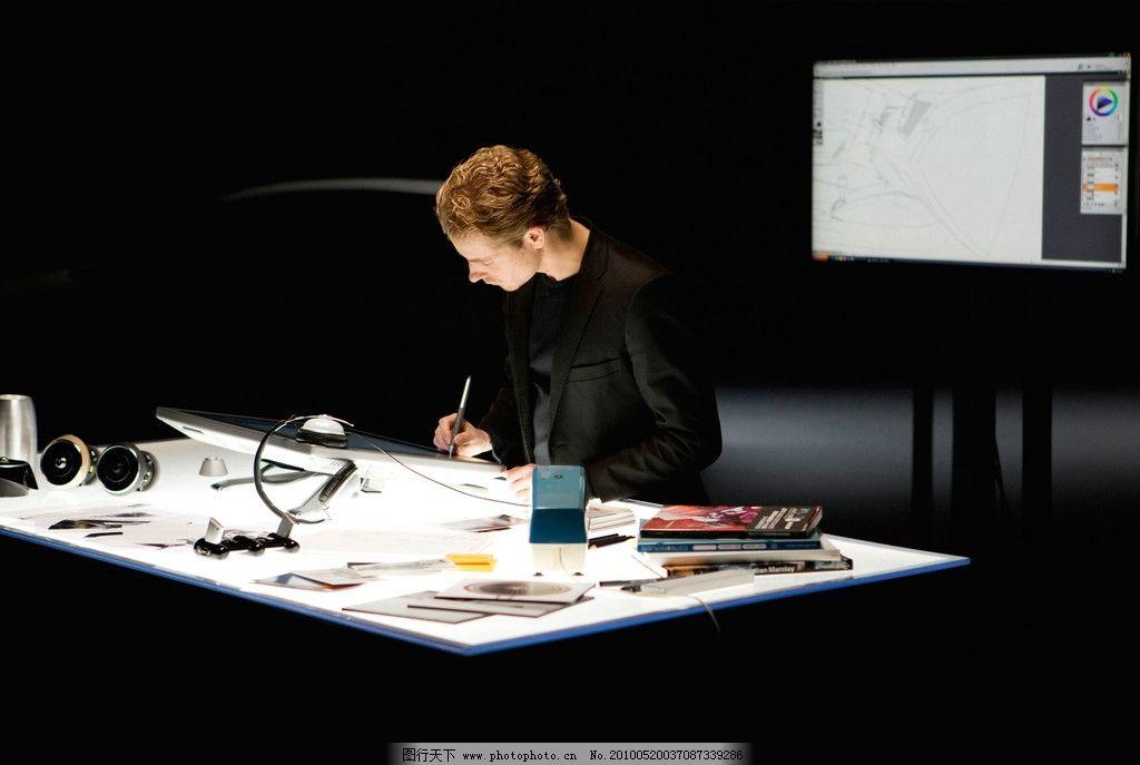 生活素材  设计师 设计 电脑 绘图 汽车设计 工业设计 工具 男性 工作