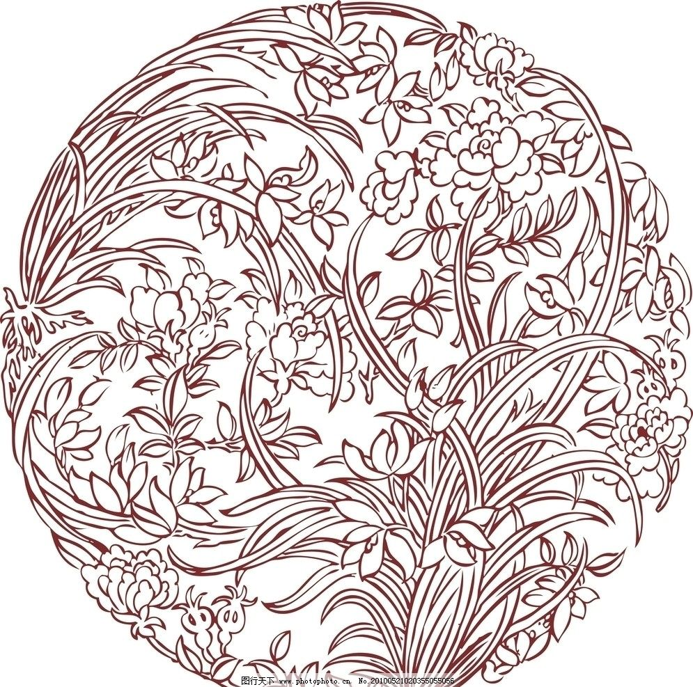 圆形花纹 圆形 花纹 图案 古典 艺术 花纹花边 底纹边框 矢量 cdr