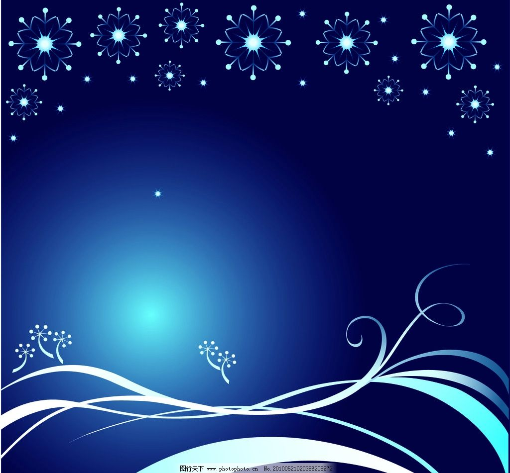 高贵蓝色典雅欧式花纹花边背景