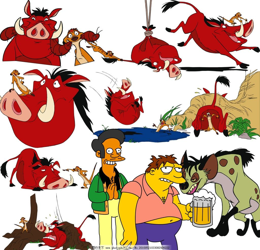 国外 经典 卡通 人物 动物 夸张 搞怪图片
