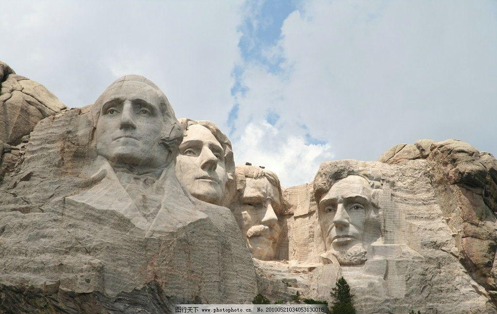 美国总统山 拉什莫尔山 雕塑 国外旅游 摄影