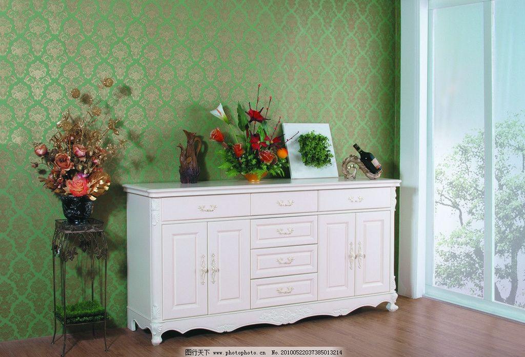白色家具 电视柜 白色 休闲生活 简欧 家具 欧式 花架 家居生活 生活
