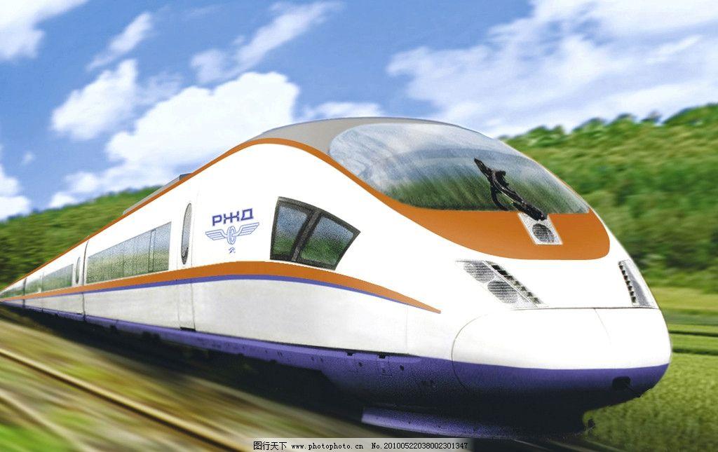 高铁 火车 电车 绿色 写意 现代 科技 速度 交通工具 现代科技