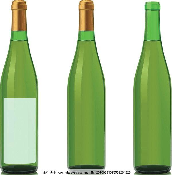 酒瓶创意手绘 丙烯画