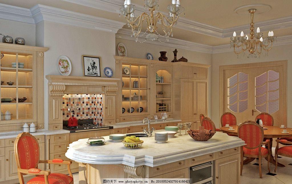 欧式厨房效果图片图片