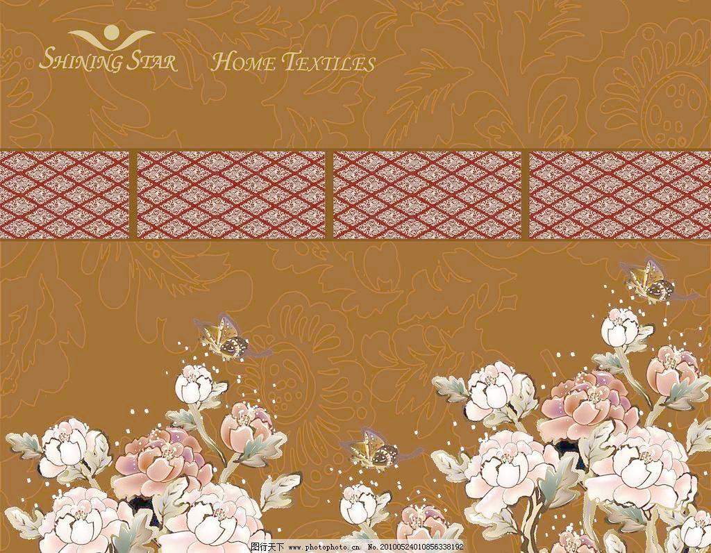 欧式复古家纺包装平面图图片