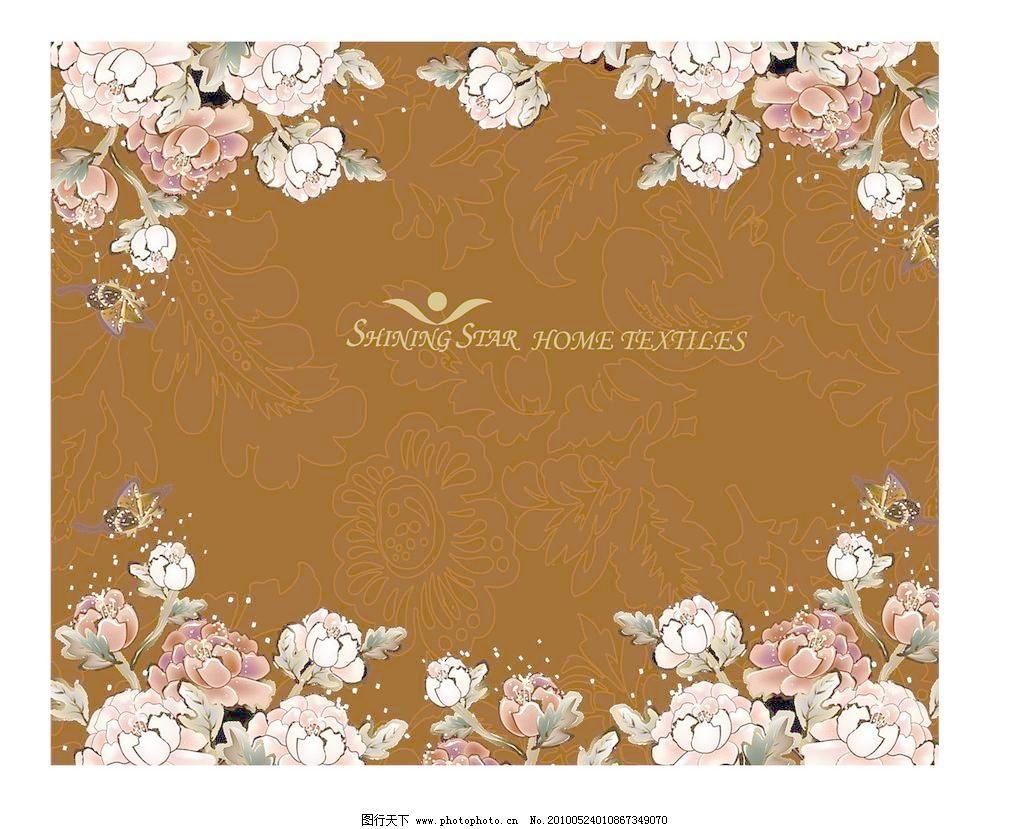 欧式花纹家纺包装设计平面图