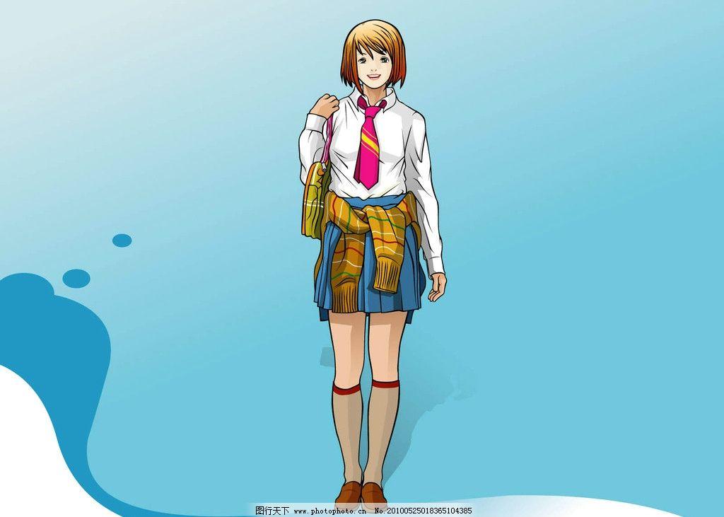 手绘美女 时尚女孩 漫画人物 女性 女人 动漫人物 动漫动画 设计 72dp