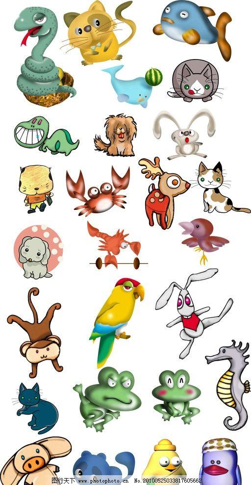 动物漫画图片铅笔画