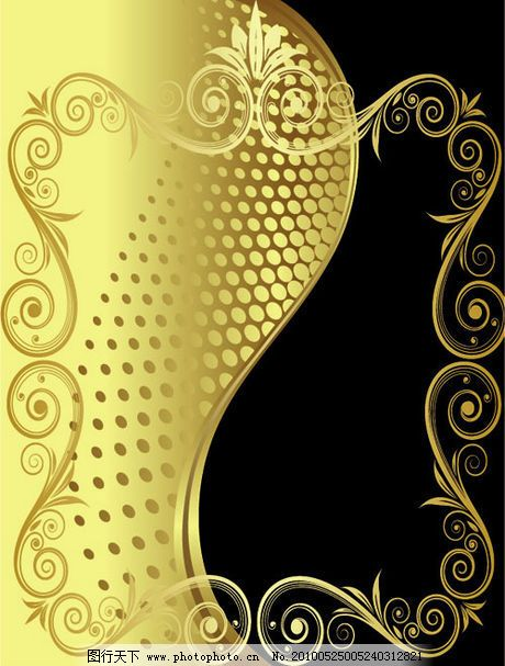 欧式花纹矢量素材免费下载 花纹 金色 欧式 纹样 装饰 矢量 花纹 装饰
