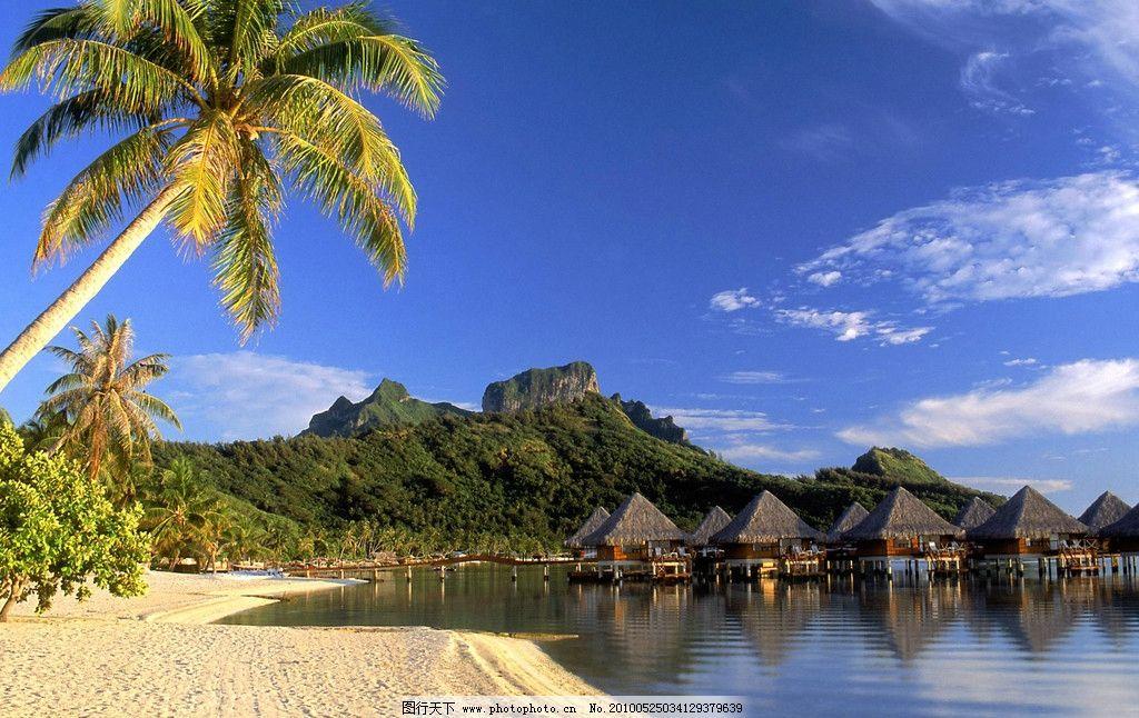 海南岛风景 大海 海边 海滩 沙滩 海岸 清澈的海水 海边的大石头 蓝天