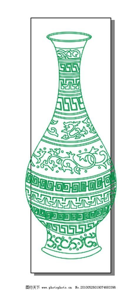艺术花瓶 花瓶 艺术花纹 细颈花瓶 陶瓷画品 古董花瓶 美术绘画 文化