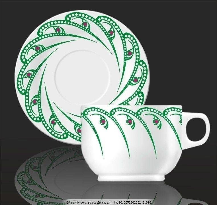 规律图案 陶瓷 贴花 花纸 花纹花边 杯碟 矢量图 陶瓷花纸设计