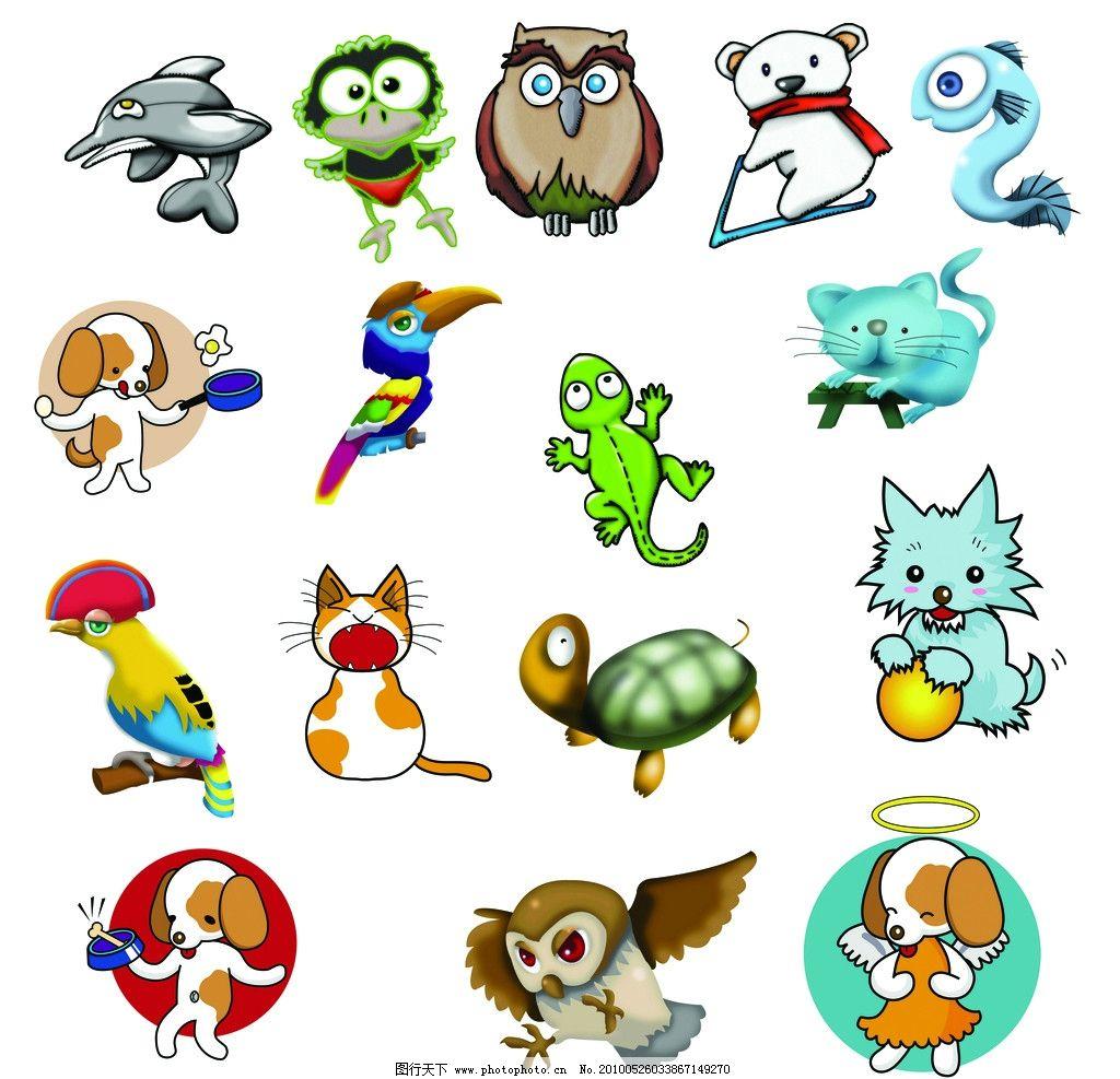 卡通小动物图片图片