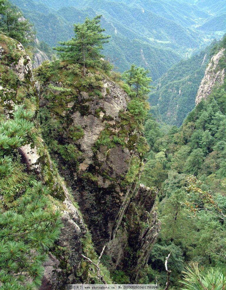 大山 树 石头 高清大山 美景 雾 嵩县风景 自然风景 自然景观
