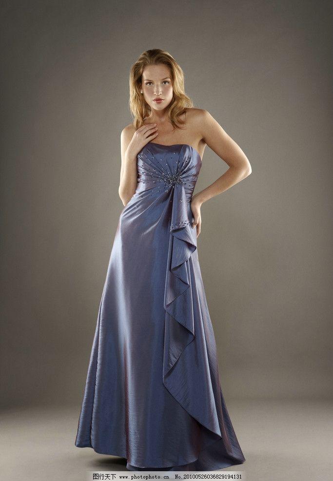 礼服 晚礼服 高贵 连衣裙 典雅 设计 服装设计 女性女人 人物图库