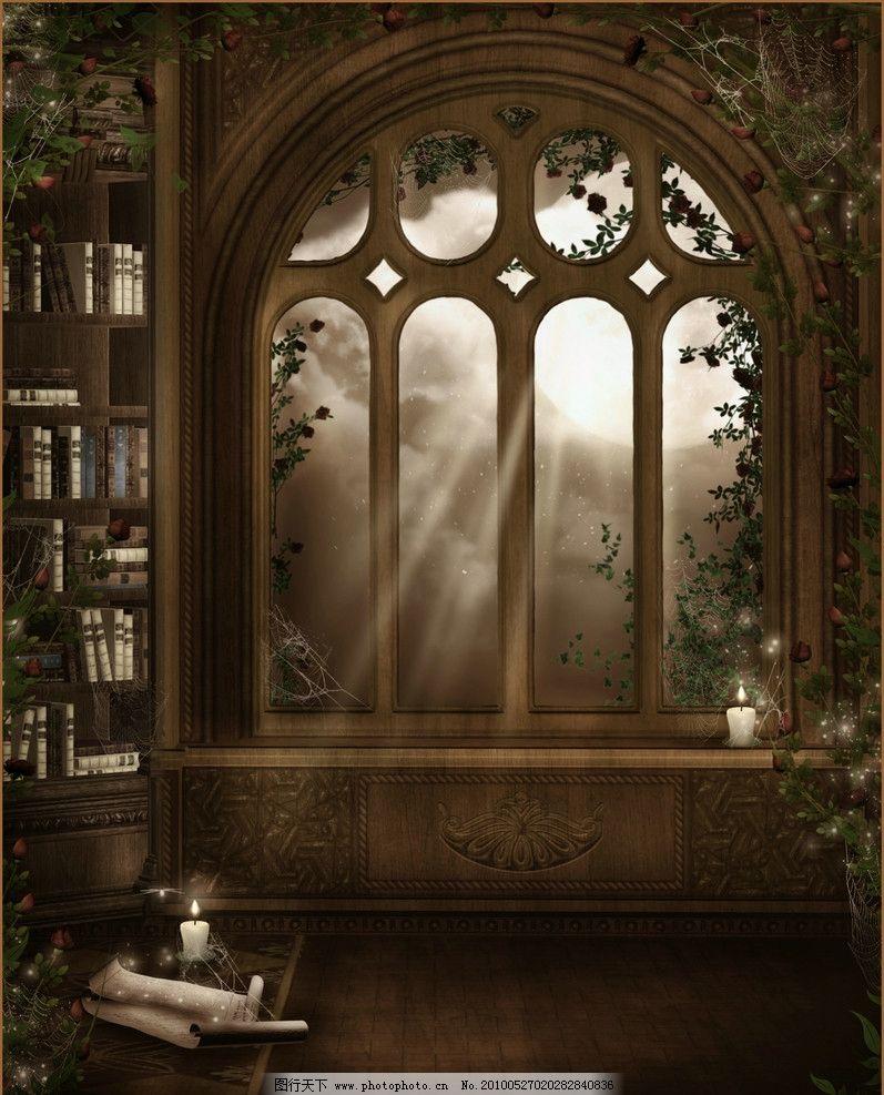 哥特风背景素材 哥特风 奇幻 暗黑 童话世界 想象 唯美 梦幻 森林