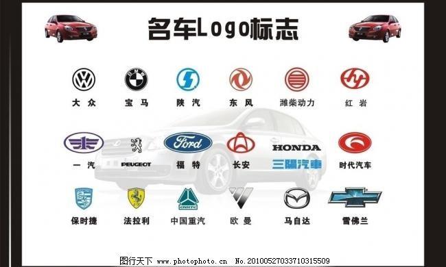 汽车logo标志 标识标志图标 车牌 矢量