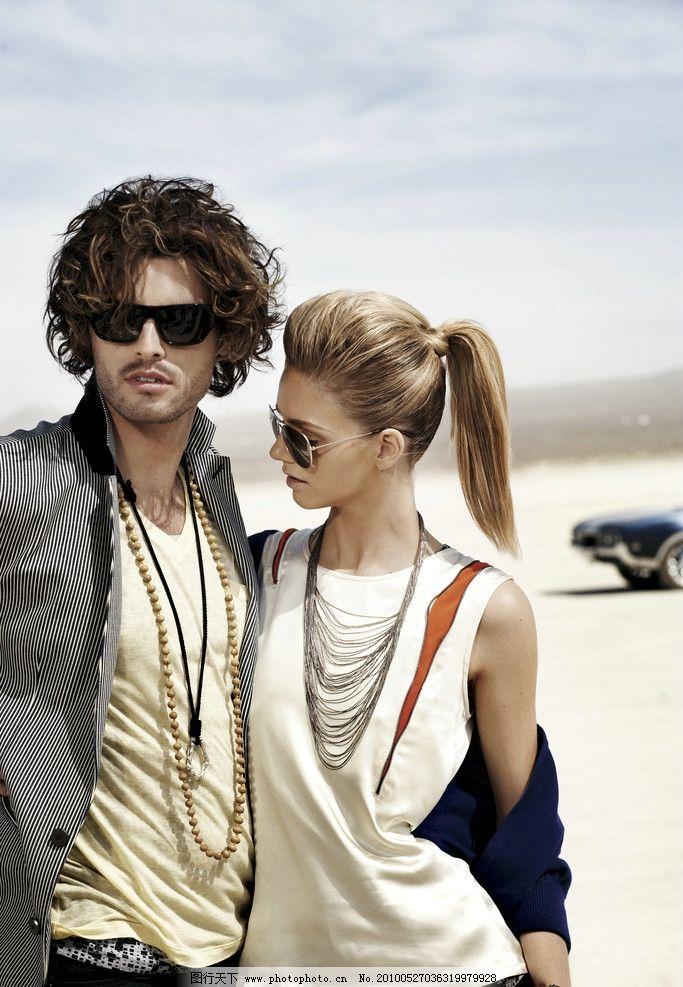 国外时装 模特 情侣 搭档图片