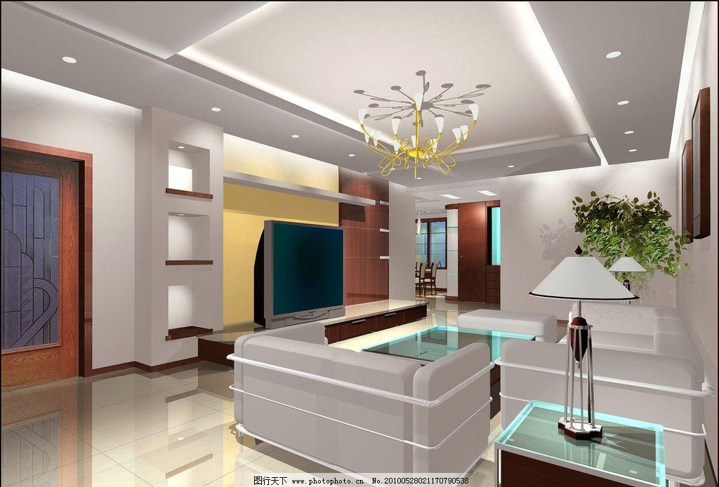 家装客厅效果图图片_3d作品设计_3d设计_图行天下图库