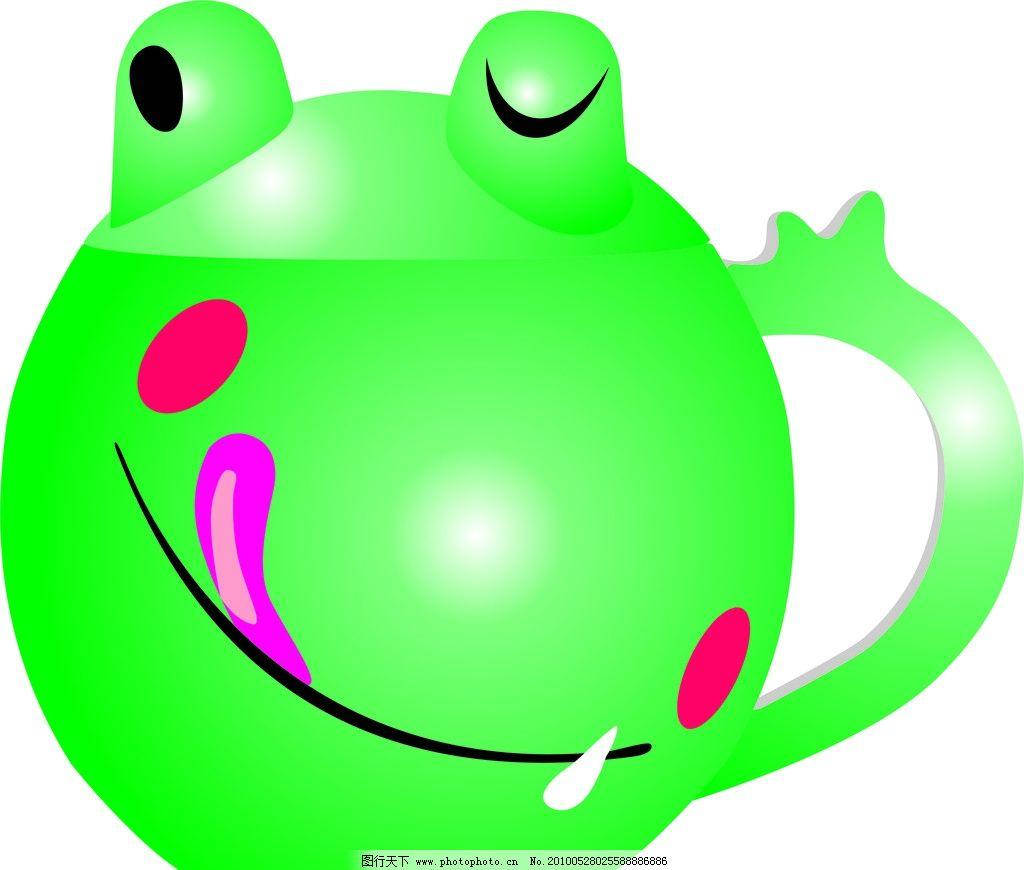 可爱卡通青蛙茶杯图片