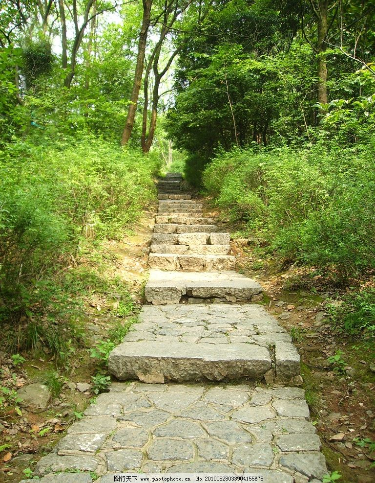 桂林西山公园 石砖路 小路 树林 植物 桂林风景 国内旅游 旅游摄影