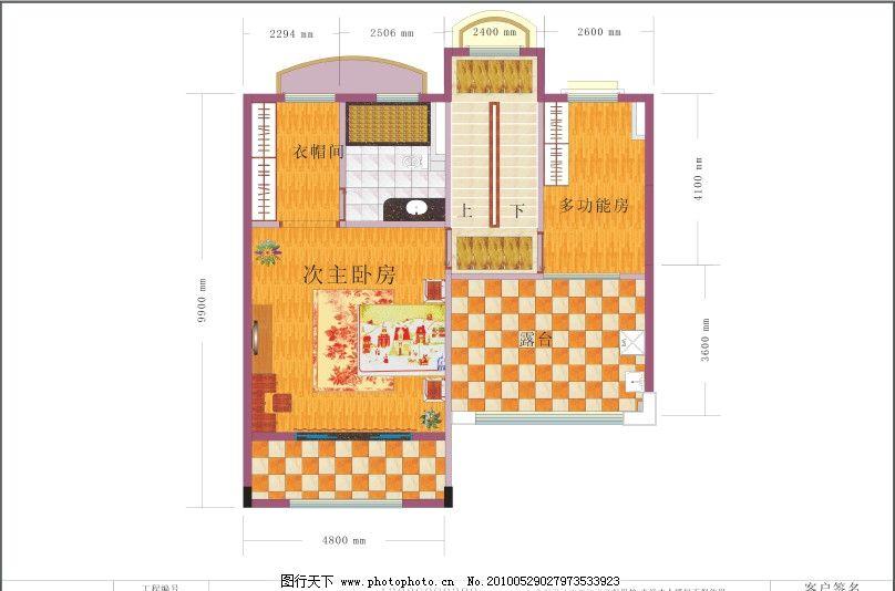 平面布置图 墙 门 床 木地板 桌子 电视 室内设计 建筑家居 矢量 cdr