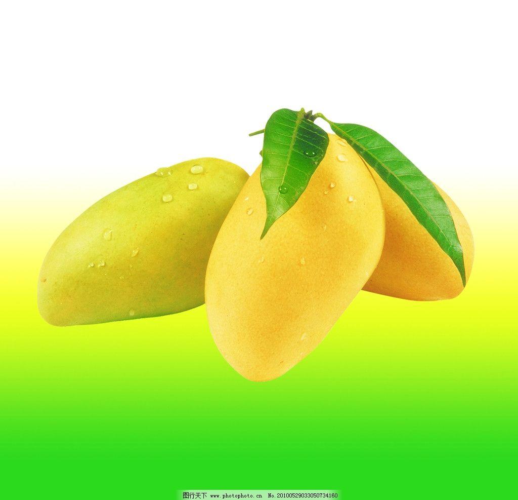 水果类 芒果 叶子 金黄色 渐变色 源文件